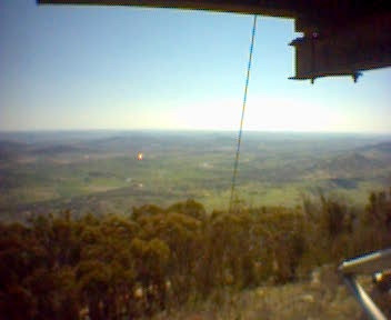 View north from fire observation tower on Mount Tennant